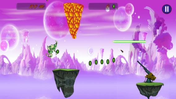 Flying Alien Ben Ghost : Game Download of is Play Store